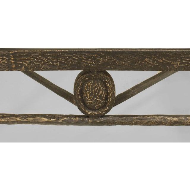 Postwar Design 'Giacometti Style' Dark Bronze Patina Coffee Table For Sale - Image 4 of 5