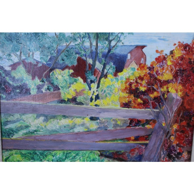 "Impressionism ""Burning Bush"" Oil Painting by Ede-Else For Sale - Image 3 of 5"