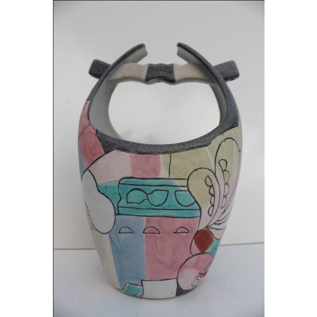 Kiln Art Cubist Handmade Vase - Image 3 of 8