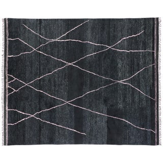 Contemporary Moroccan Area Rug With Luxe Style - 08'05 X 10'01 For Sale