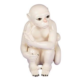 Vintage Ceramic Monkey Sculpture For Sale