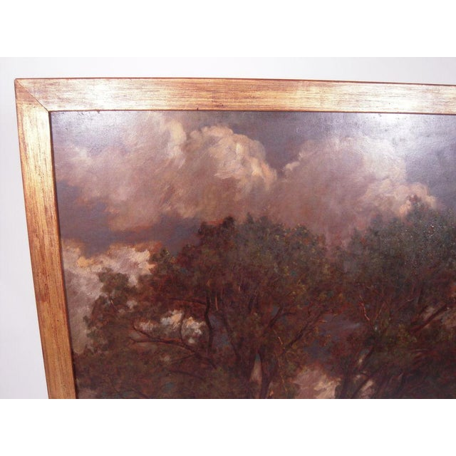 "Oak ""Breezy Day"" Painting by D. Jerome Elwell, circa 1888 For Sale - Image 7 of 10"