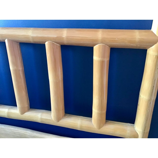 Wood Vintage Boho Chic King Size Bamboo Canopy Bedframe For Sale - Image 7 of 12