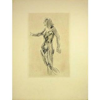 Francois Villon, Nude Female Etching For Sale