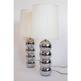 George Kovacs Chrome Caterpillar Lamps - a Pair Preview