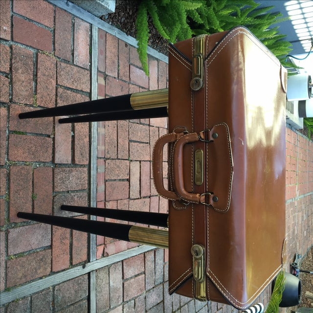 Vintage Suitcase Side Table - Image 2 of 7