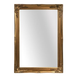 Maissance Solid Wood Antique Gold Wall Mirror For Sale