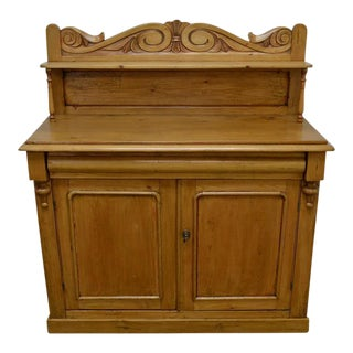 Country Pine and Beech Chiffonier For Sale