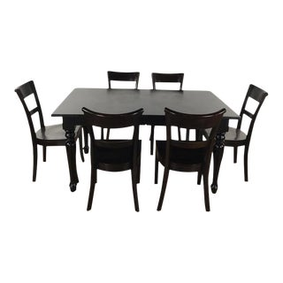 Wooden Mahogany Dining Set For Sale