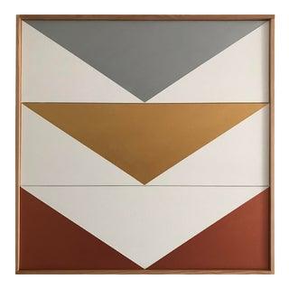 "Original Acrylic Painting ""Metallics Arrow Down Triptych JET0500"""
