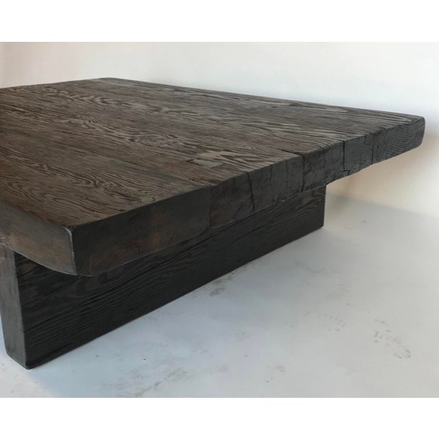 This coffee table is made of one hundred year old Douglas fir, 3.5 inches thick. Naturally distressed but with a sealed...