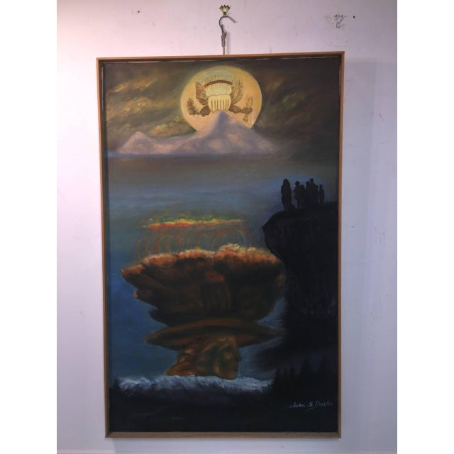 Modern Modern World Peace Painting by Artist John Dasho For Sale - Image 3 of 10