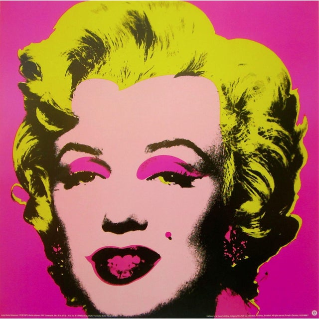 """1993 """"Marilyn Pink"""" Offset Lithograph After Andy Warhol For Sale"""