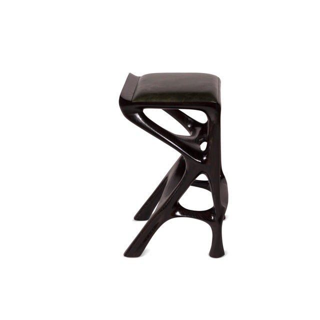 Not Yet Made - Made To Order Amorph Chimera Bar Stool, Stained Ebony For Sale - Image 5 of 8