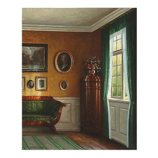 Sunlit Interior by Hans Hilsoe, 1925 For Sale