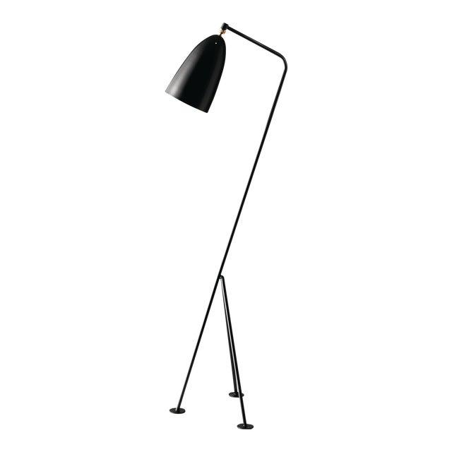 Greta Magnusson Grossman 'Grasshopper' Floor Lamp in Black For Sale