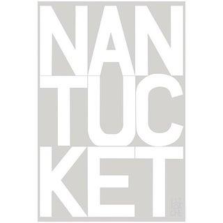 Nantucket Graphic Fog Gray Fine Art Print by Liz Roache For Sale