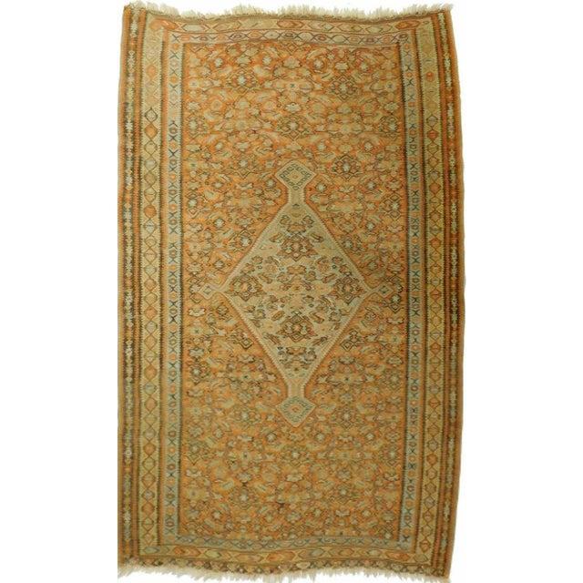 Antique Persian Killim Origin: North West Persian, Senneh Weave: Flat weave Material: Wool