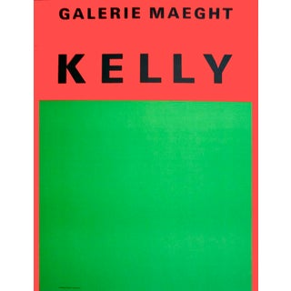 Orange Et Vert 1964 Limited Edition Poster by Ellsworth Kelly For Sale