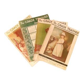 1940's Vintage The Grade Teacher Magazine -Set of 4