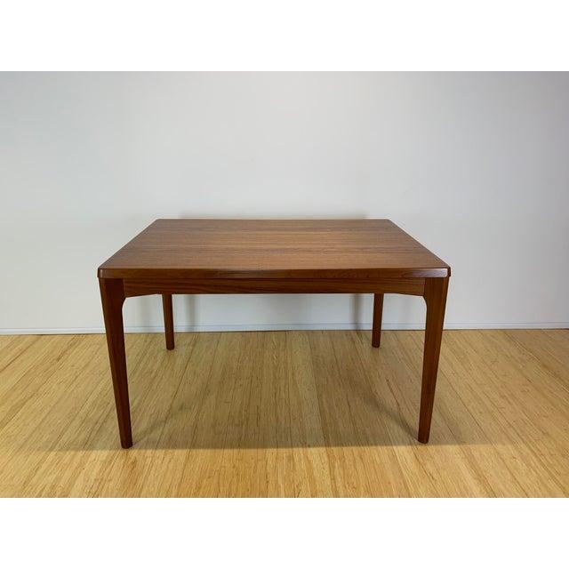 1960s Danish Modern Henning Kaerjnulf for Vejle Stole + Møbelfabrik Teak Dining Table For Sale In New York - Image 6 of 11