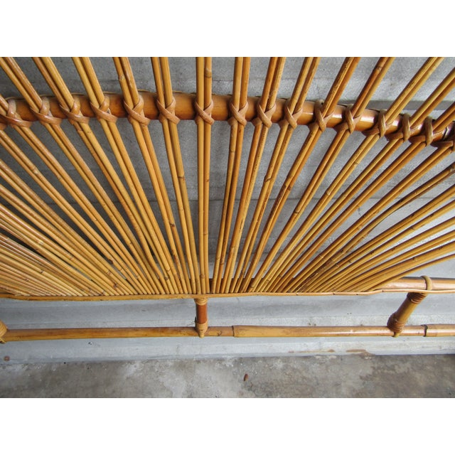 Mid-Century Modern Fan Bamboo and Bentwood Headboard For Sale In West Palm - Image 6 of 8