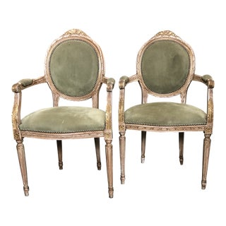 Signed Italian Arm Chairs For Sale
