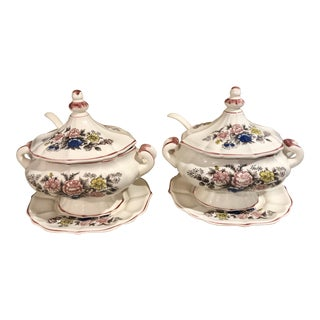 1980s Cottage Royal Sealy Soup Tureens - a Pair For Sale