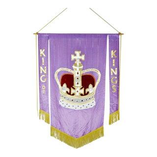 Vintage Handmade King of Kings Church Banner