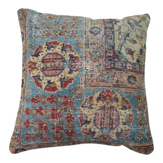 Antique Tabriz Rug Pillow For Sale