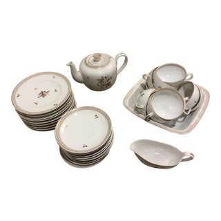 Bing and Grondhal Floral Gold Tea Set For Sale