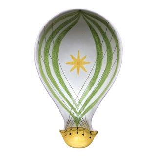 Italian Mid Century Modern Hot Air Balloon Pottery Bowl For Sale