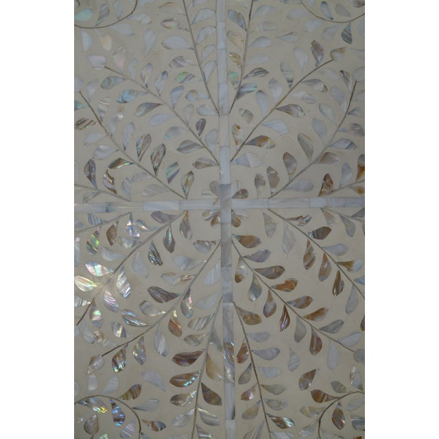 Moroccan Mother of Pear and White Octagonal Coffee Table For Sale In Los Angeles - Image 6 of 10