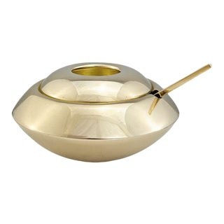 Tom Dixon Form Sugar Dish & Spoon For Sale