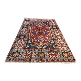 Antique Geometric Pattern on German Area Rug For Sale