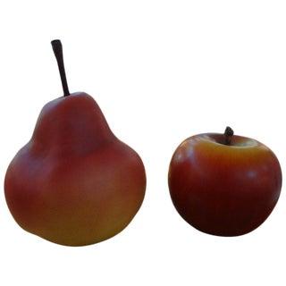 Postmodern Pop Art Ceramic Fruit - a Pair