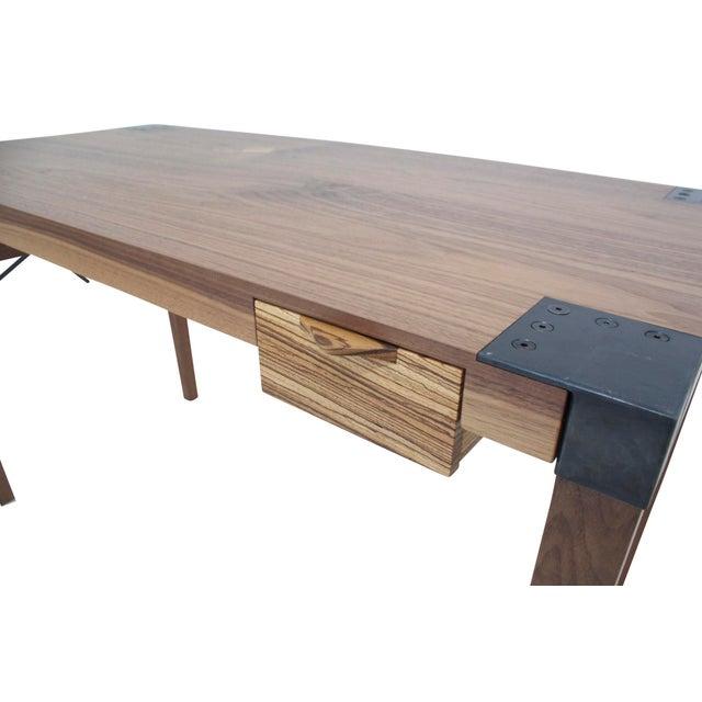 Stefan Rurak Walnut Writer's Desk For Sale - Image 4 of 9