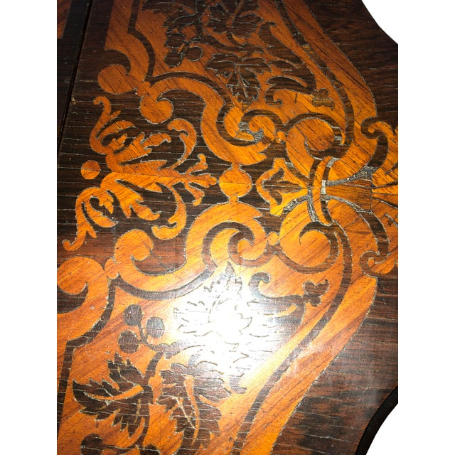 Brown French Drop Leaf Table For Sale - Image 8 of 10
