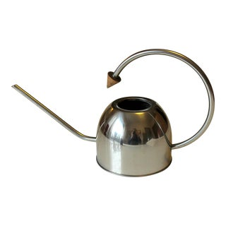 1980s Vintage Stainless Steel Watering Can For Sale