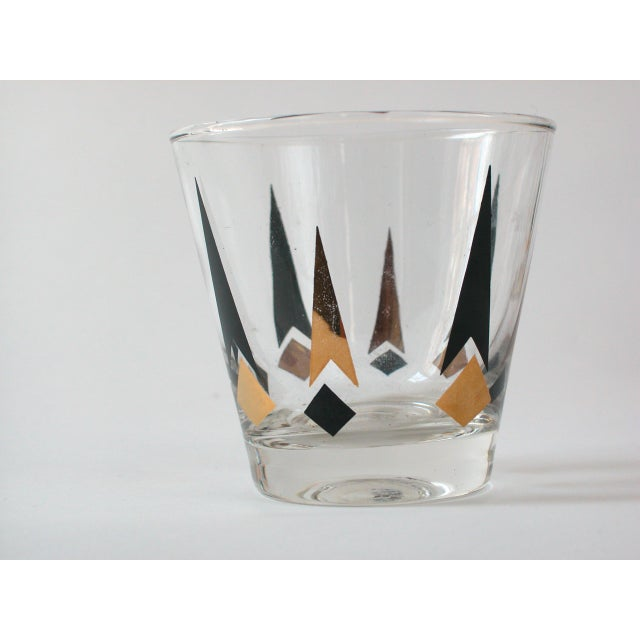 Black & Gold Lowball Glasses - Set of 4 - Image 6 of 8