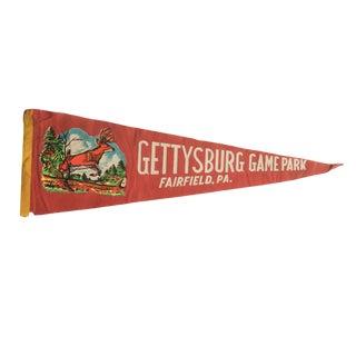 Vintage Gettysburg Game Park Felt Flag Pennant For Sale