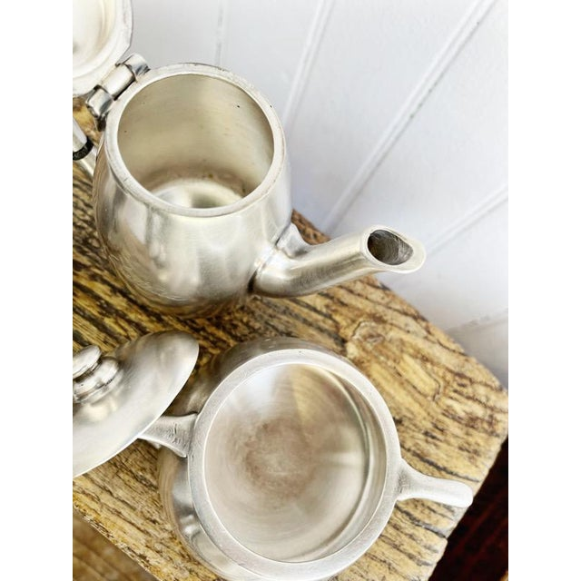 Metal Antique Silver Plated Childs Tea Set From Hotel Lutetia Paris For Sale - Image 7 of 13