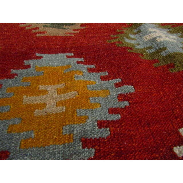 "Asian Isara Wool Kilim Rug-7'6'x9'6"" For Sale - Image 3 of 7"