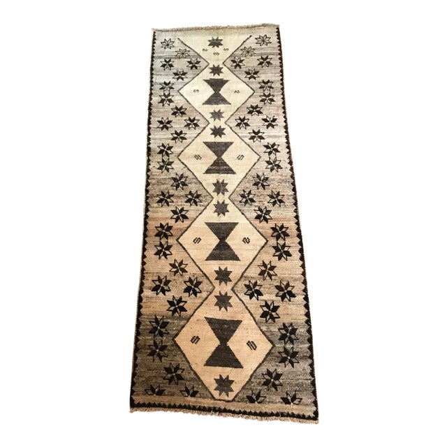 Cream, Brown + Gray Persian Rug For Sale