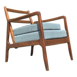 Mid Century Danish Modern Ole Wanscher Lounge For Sale