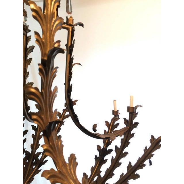 1970s Bronzed Metal Nineteen-Light Florentine Chandelier For Sale - Image 5 of 12