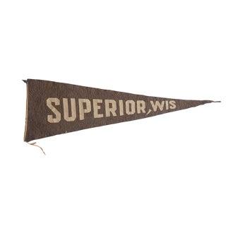 Antique Superior, Wisconsin Felt Flag Pennant