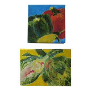 Acrylic Vegetable Paintings-2 Pieces For Sale