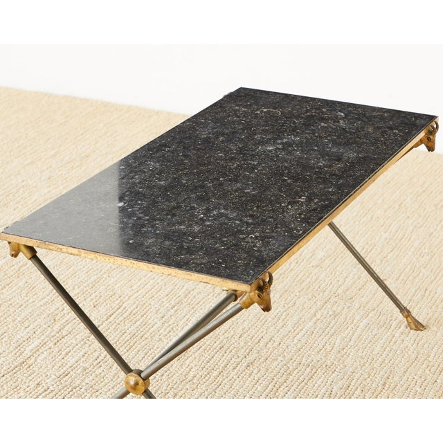 Maison Ramsay Maison Ramsay Marble Rams Head Cocktail Table For Sale - Image 4 of 13