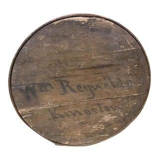 Antique Round Wood Box - Kingston, Ny
